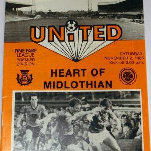 united v hearts nov 1985