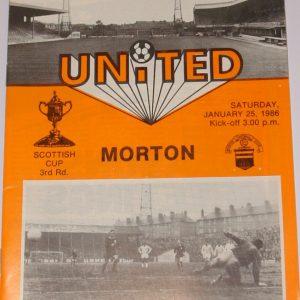 united v morton 1986 scottish cup 1986