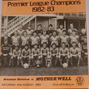 united v motherwell august 1983