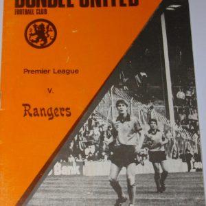 united v rangers 1981 nov