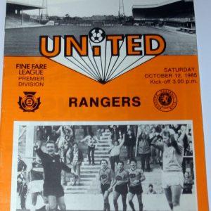 united v rangers 1985 oct