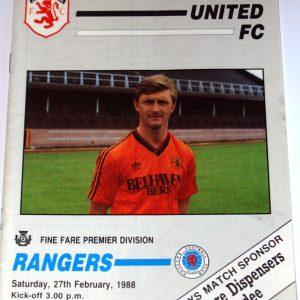 united v rangers 1988 feb