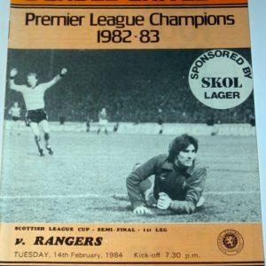 united v rangers feb 1984