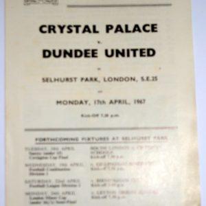 crystal palace v dundee united
